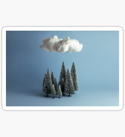 A cloud over the forest Sticker