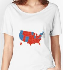 Donald Trump 45th US President - USA Map Election 2016 Women's Relaxed Fit T-Shirt