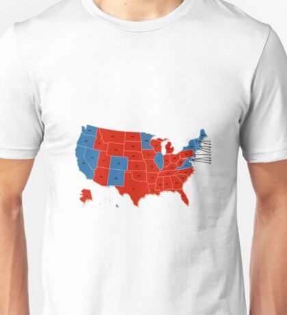 Donald Trump 45th US President - USA Map Election 2016 Unisex T-Shirt