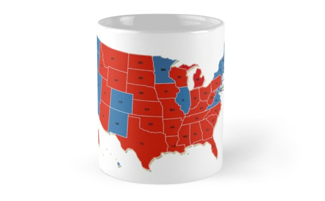 Donald Trump 45th Us President Usa Map Election 2016
