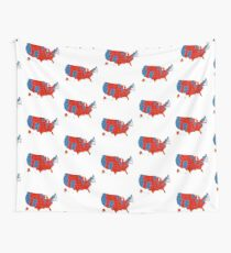Donald Trump 45th US President - USA Map Election 2016 Wall Tapestry