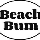 Beach Bum Oval (Black & White) by Joshua Potter