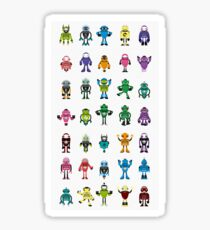 Robot Characters Poster Sticker