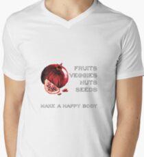 Vegan Statement Fruits Vegetables Men's V-Neck T-Shirt