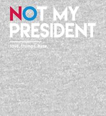 Not My President (Love Trumps Hate) Kids Pullover Hoodie