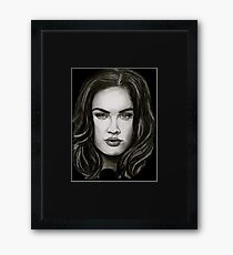 Meg in black Framed Print