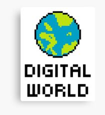 Digital World Canvas Print