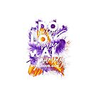 Bible verse Micah 6:8 Purple Orange and White feathers by blackcatprints