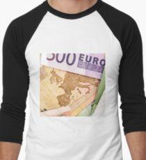 Map of Europe on 50 Euro banknote  Men's Baseball ¾ T-Shirt