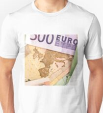 Map of Europe on 50 Euro banknote  Unisex T-Shirt