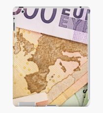 Map of Europe on 50 Euro banknote  iPad Case/Skin