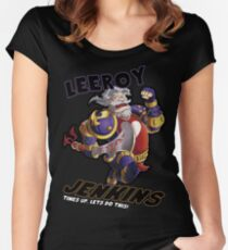 Leeory Jenkins: Time's Up! Women's Fitted Scoop T-Shirt