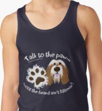 Talk to the paw brown beardie Tank Top