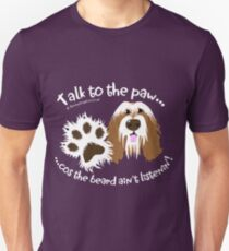 Talk to the paw brown beardie Unisex T-Shirt