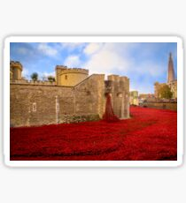 Poppies At Tower Of London Sticker
