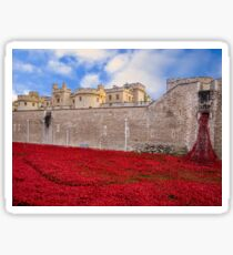 Tower Of London Poppy Display Sticker