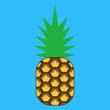Pineapple pattern - blue by kimrst