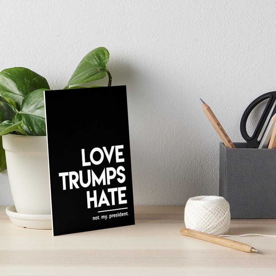 Liebe trumpft Hass (nicht mein Präsident) Galeriedruck