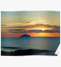 Sunset over Ailsa Craig Poster
