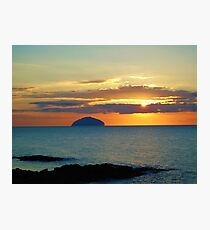 Sunset over Ailsa Craig Photographic Print