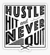 Baseball Softball Hustle Hit And Never Quit Sticker