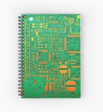 green electronic circuit board Spiral Notebook