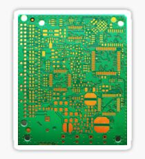 green electronic circuit board Sticker