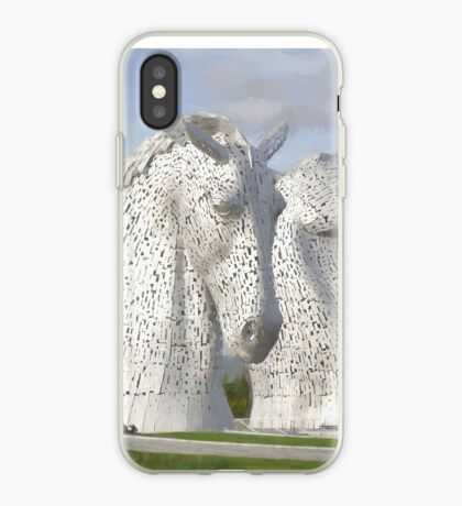 the Kelpies , Helix Park , Gramgemouth iPhone Case