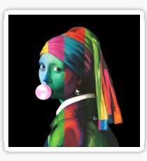 Pop Vermeer Bubble Girl Sticker