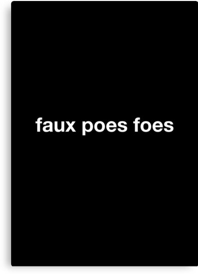 faux poes foes by Expandable Studios