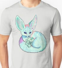 Fennec Fox with Succulent Unisex T-Shirt
