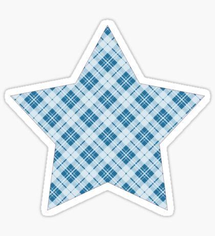 Trendy Light Blue tartan  Sticker