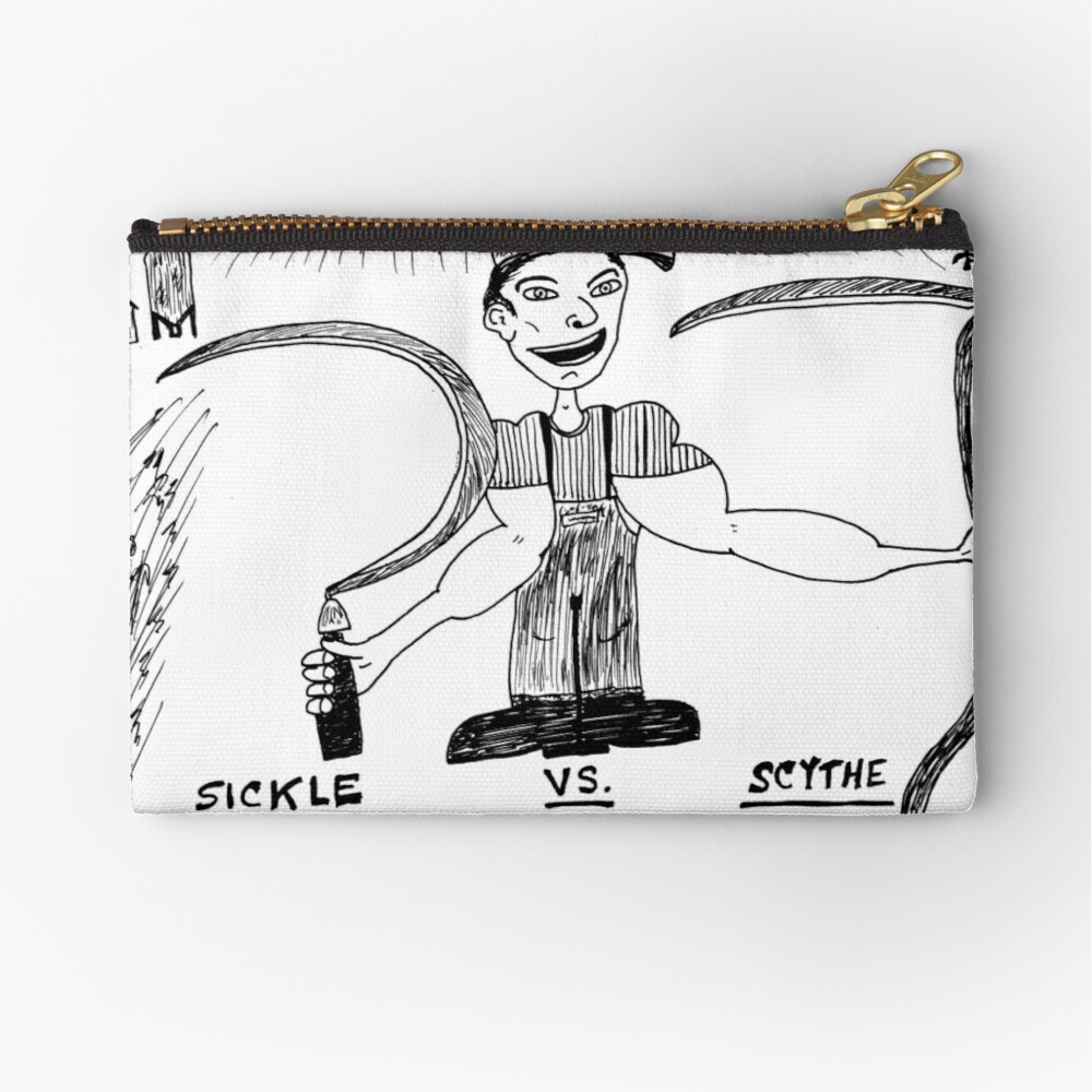 Sickle vs  Scythe | Zipper Pouch