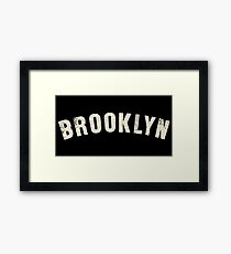 BROOKLYN LETTERPRESS Framed Print