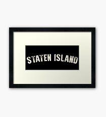 STATEN ISLAND LETTERPRESS Framed Print