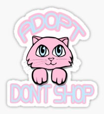 Adopt Don't Shop (Pink) Sticker