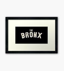 THE BRONX LETTERPRESS Framed Print