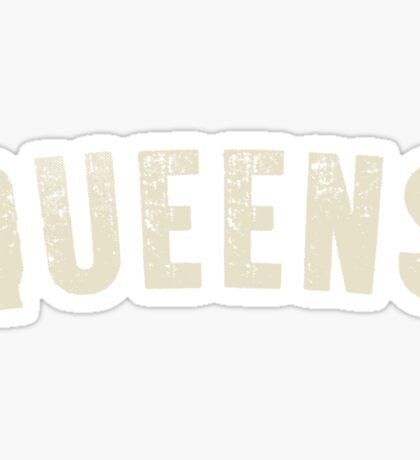 QUEENS LETTERPRESS Sticker