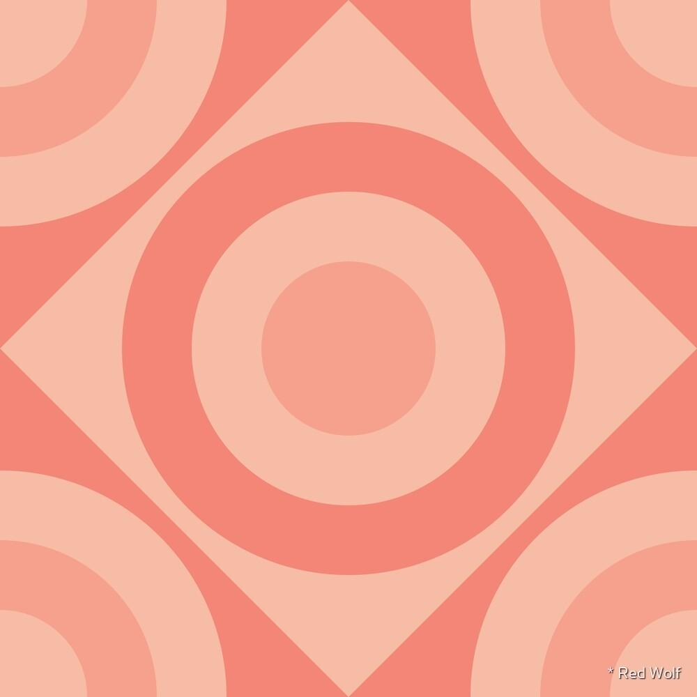 Geometric Pattern: Rondel Diamond: Salmon by * Red Wolf