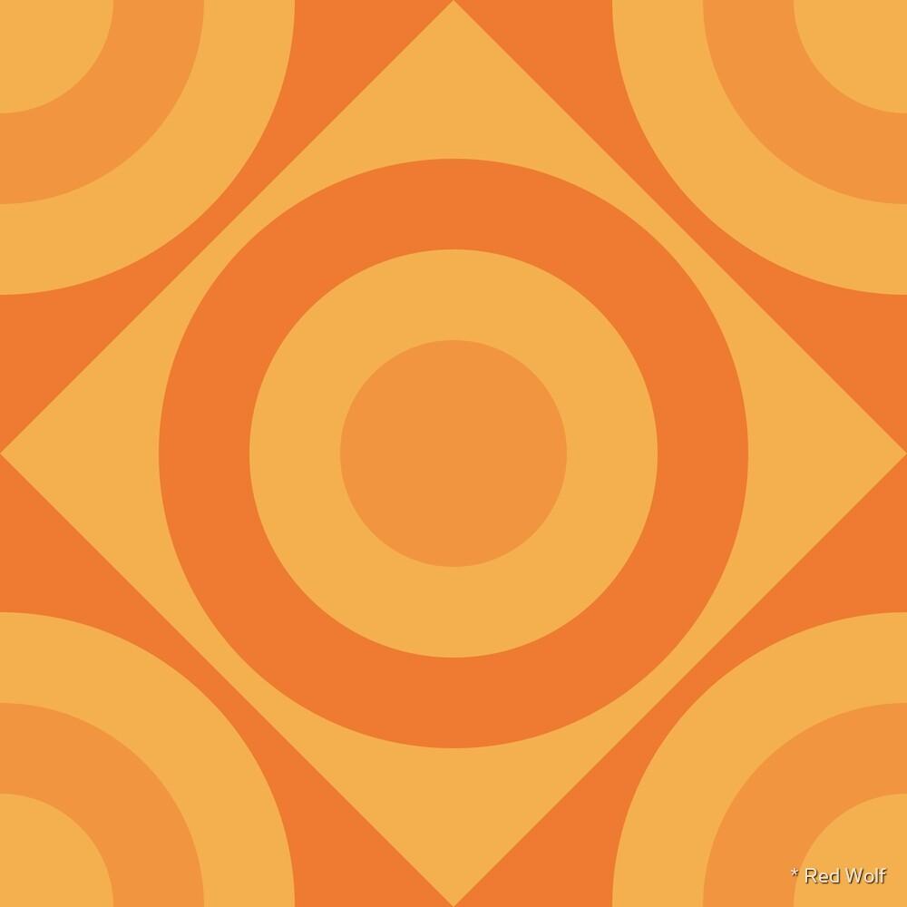 Geometric Pattern: Rondel Diamond: Citrus by * Red Wolf