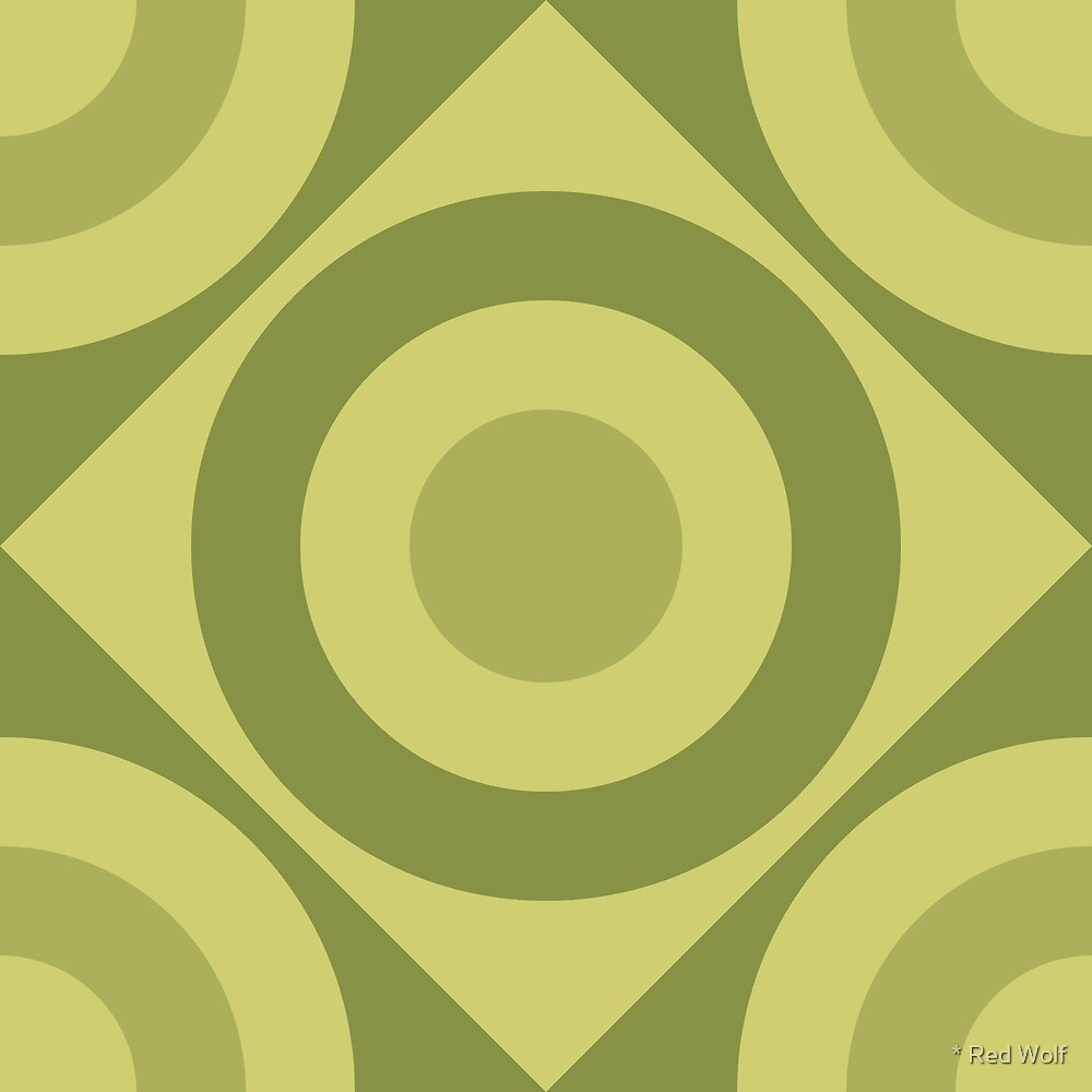Geometric Pattern: Rondel Diamond: Olive by * Red Wolf