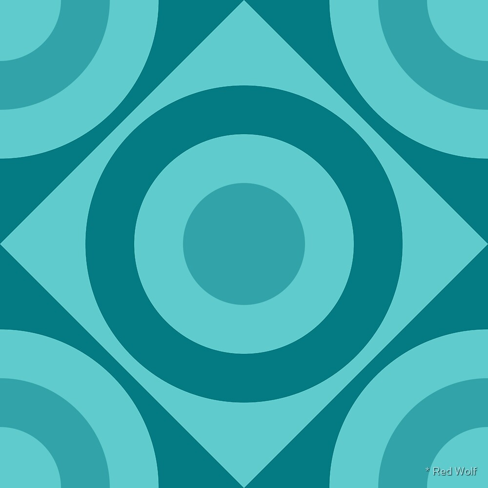 Geometric Pattern: Rondel Diamond: Ocean by * Red Wolf