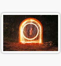 Urban sparks with steel wool Sticker
