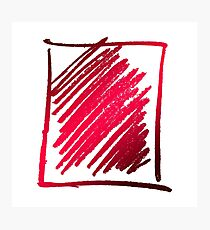 Red Scribble Photographic Print