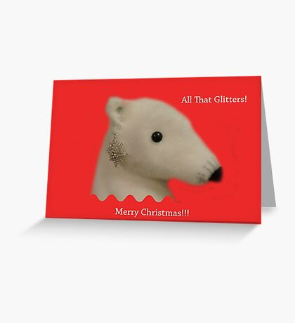 All That Glitters: Polar Bear with Ear-ring Greeting Card