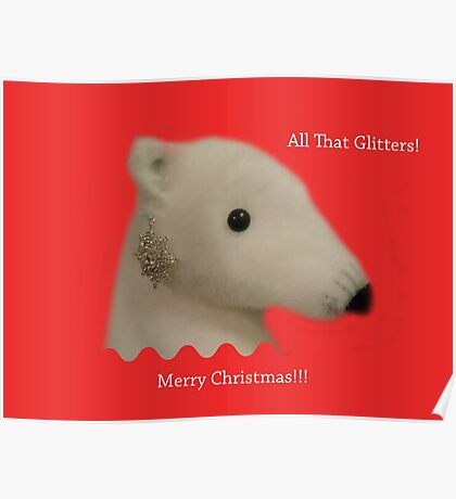 All That Glitters: Polar Bear with Ear-ring Poster
