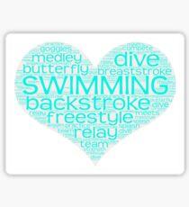 I Love Swim  Sticker