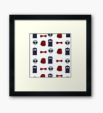 Doctor Who 11th Doctor Pattern  Framed Print