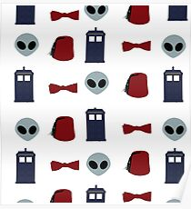 Doctor Who 11th Doctor Pattern  Poster