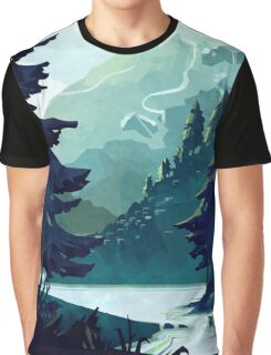 Canadian Mountain Graphic T-Shirt